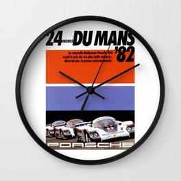 Le Mans 1982, 24hs Le Mans, 1982, original vintage poster Wall Clock