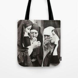 Nuns Smoking Tote Bag