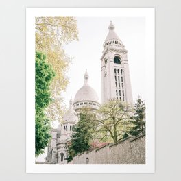 Sacre Coeur from Behind Art Print