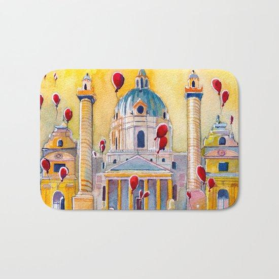 Vienna, famous Karlskirche saint Charles Church Bath Mat