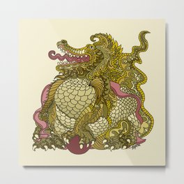 Dragon Royal Gold Metal Print