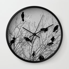 Murder Of Crows - Five Wall Clock