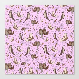 Cute Otters :) Canvas Print