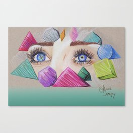 Through your eyes Canvas Print