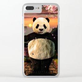 Panda Hug Clear iPhone Case