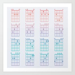 Guitar Chords Art Print