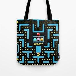 pac-man blue Tote Bag