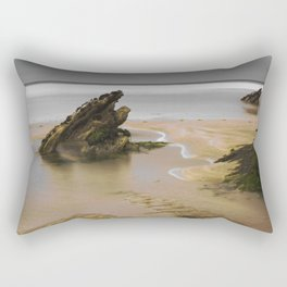 Fistral Beach, Newquay, Cornwall, England United Kingdom Rectangular Pillow