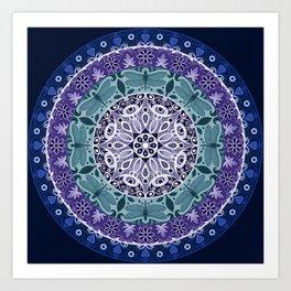 Dragonfly Mandala Art Print