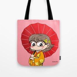 Eva in Kimono Tote Bag