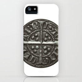 Hammered Medieval Coin England King Edward I iPhone Case