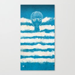 On the clouds Canvas Print