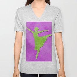 AP123 Watercolor dancer Unisex V-Neck