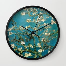 Almond Blossoms Vincent Painting Van Gogh Wall Clock