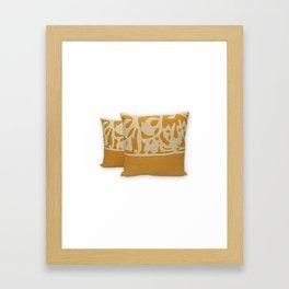 Handmade Designer Kantha Pillow Cover Framed Art Print