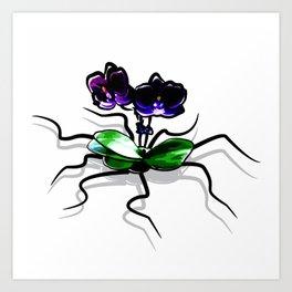 Creepy Orchid Art Print