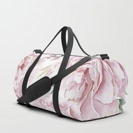 Girly Pastel Pink Roses Garden Duffle Bag