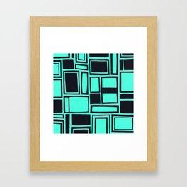 Windows & Frames - Teal Framed Art Print