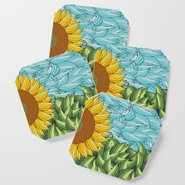 SUNNY DAY (abstract flowers) Coaster
