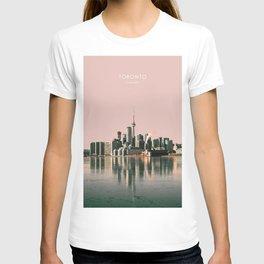 Toronto Skyline, Canada Travel Artwork T-shirt