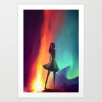 emily rickard Art Prints featuring EMILY by Julia Wei