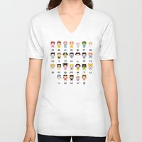 nausicaa V-neck T-shirts featuring Princess Alphabet by PixelPower