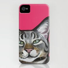 Whiskers the Tabby Cat Slim Case iPhone (4, 4s)