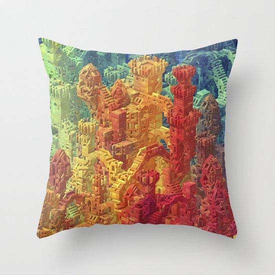 Castle Block Throw Pillow