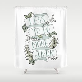 More Ta-Da - Mint Shower Curtain
