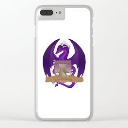 Clan Lochguard Purple Dragon Crest Clear iPhone Case
