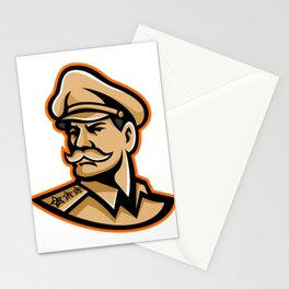 American General Mascot Stationery Cards