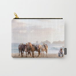 Horses and a horseman Carry-All Pouch