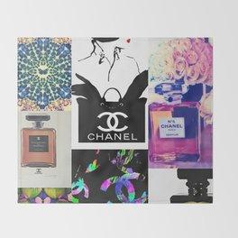 CC No.5 Fashion Collage Throw Blanket