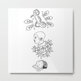 Science Fiction Character Illustration Metal Print