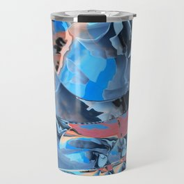 The edge of blue mystery Travel Mug