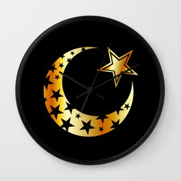 The Islamic star Wall Clock