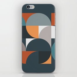 Mid Century Geometric 11/2 iPhone Skin