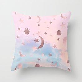 Pastel Starry Sky Moon Dream #2 #decor #art #society6 Throw Pillow
