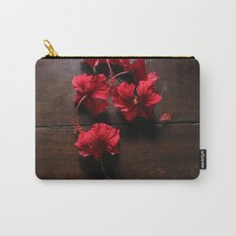 Beet Red Hibiscus Carry-All Pouch