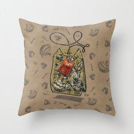 Tea bag Throw Pillow
