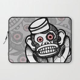 Creepy Cymbal-banging Monkey Laptop Sleeve