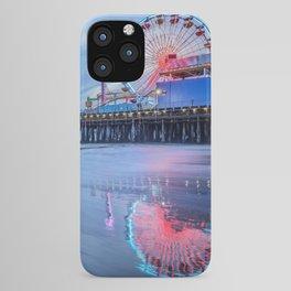 Santa Monica Pier Sunset Califorina Los Angeles Beach Landscape iPhone Case