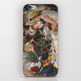 IT's Pennywise in Luncheon of the Boating Party iPhone Skin