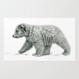 Polar bear's cub   B/W bis G2011-16 Rug
