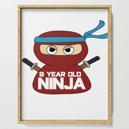 9th Birthday Ninja Party Samurai Ninjas Gift Japanese Ninja stars Fighter Gift Serving Tray