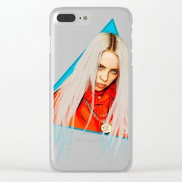 Billie Eilish Artwork Triangle Clear iPhone Case