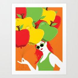 Pomme Pomme Girl Art Print