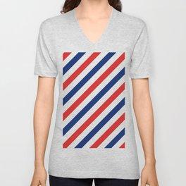 Barber Stripes Unisex V-Neck