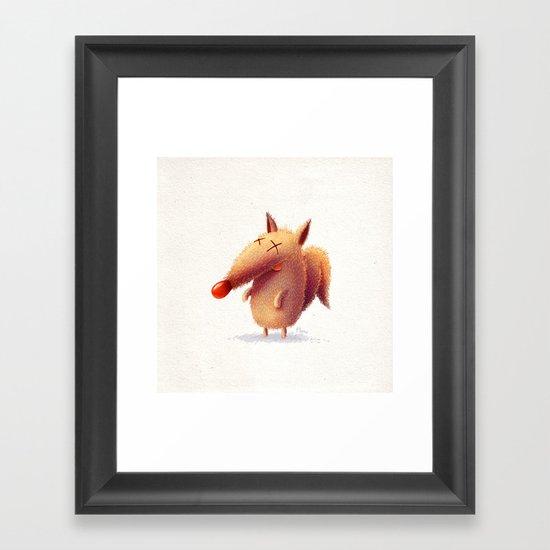 Monday fox Framed Art Print