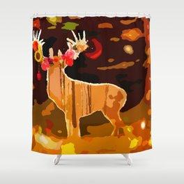 Christmas DEER Shower Curtain